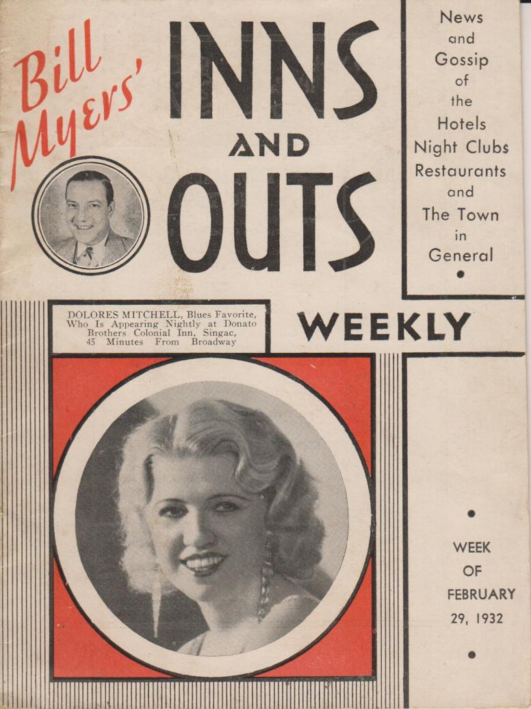 Bill Myers Inns and Outs 29 February 1932