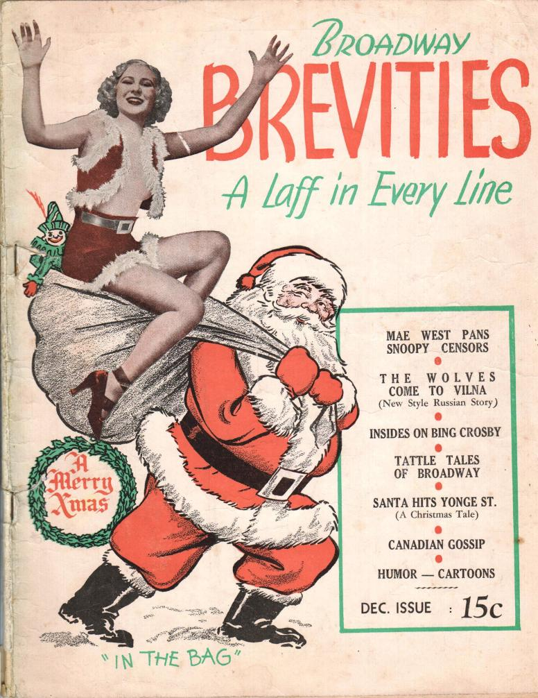 Broadway Brevities (Canadian) December no y ear Clow