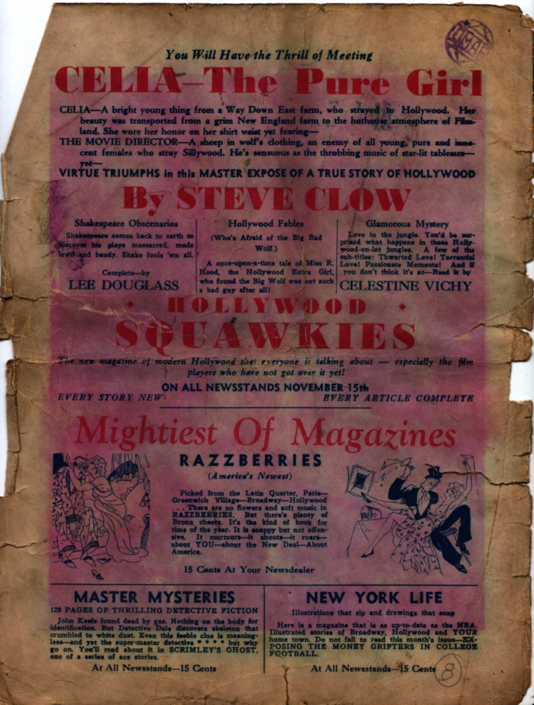 Burten's Follies 1933 12 Clow advert