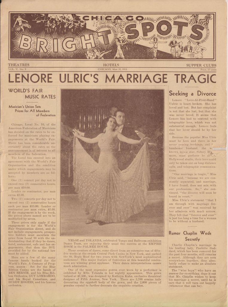 Chicago Bright Spots May 20 1933 vol V no 5