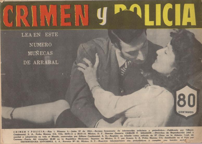 Crimen y Policia vol 1 no 4 June 27 1953 bc