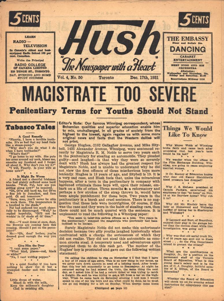 Hush 1931 12 17