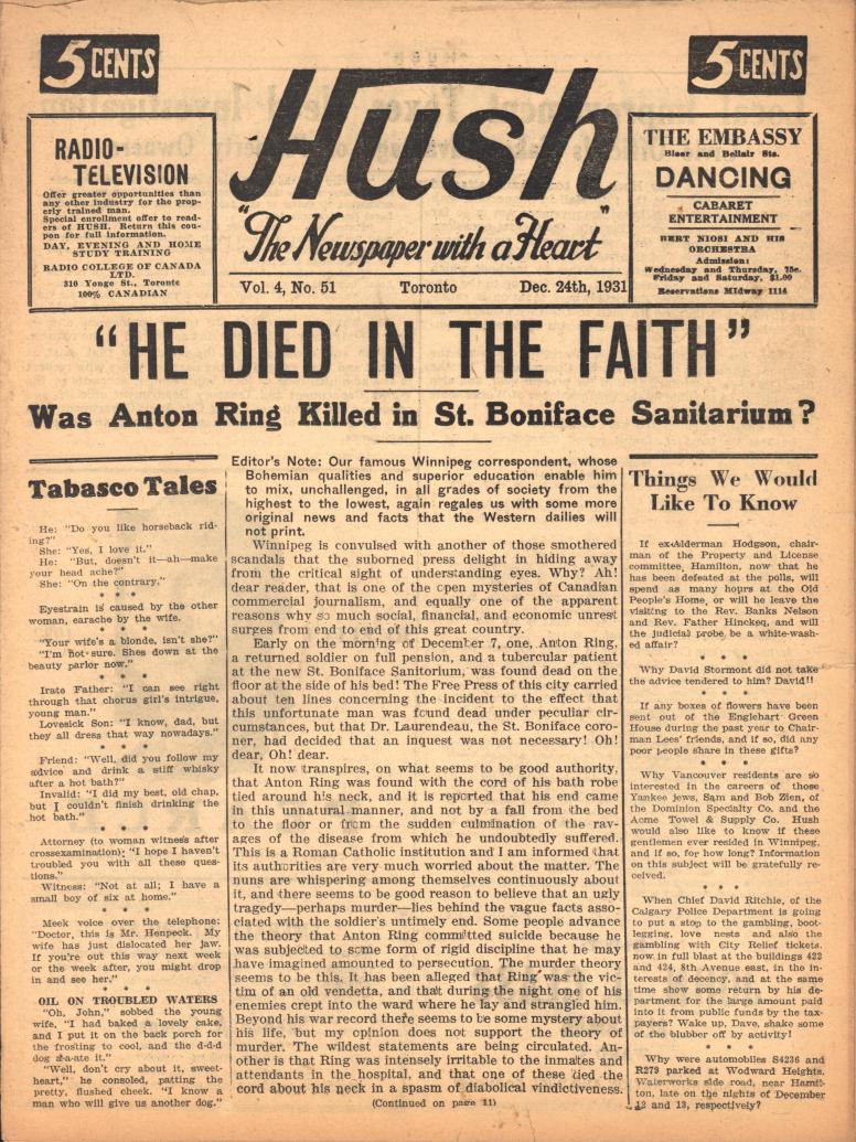 Hush 1931 12 24