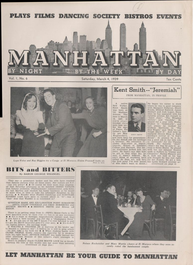 Manhattan vol 1 no 10 April 1 1939