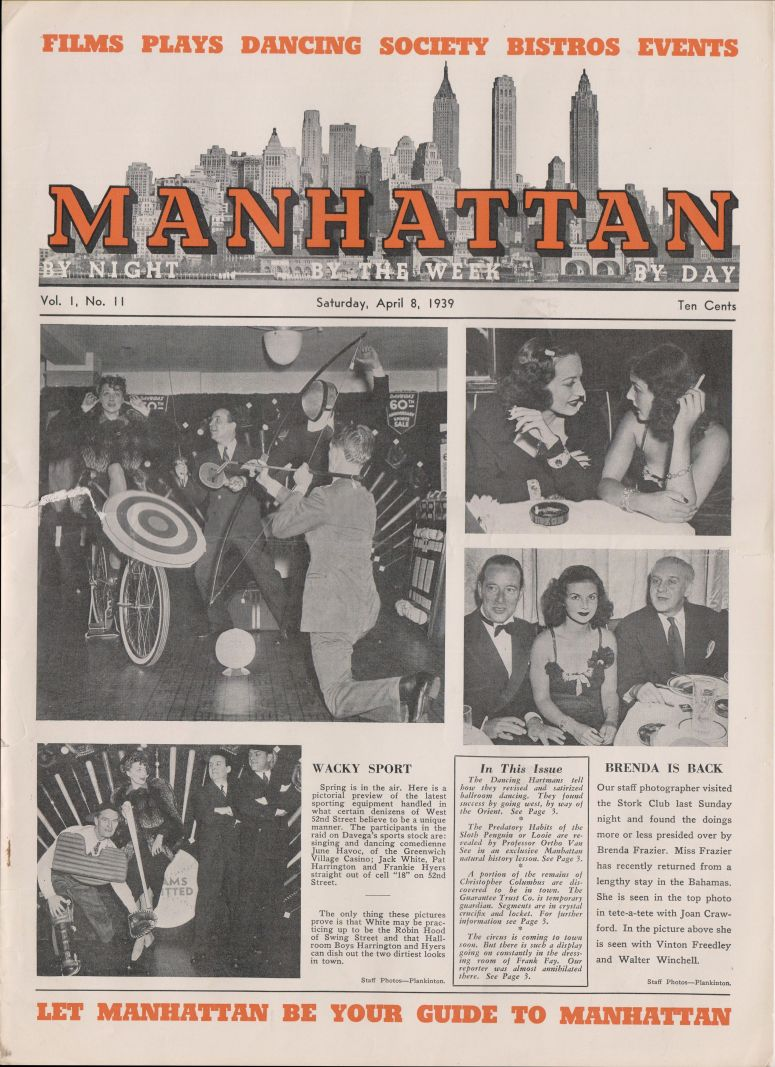 Manhattan vol 1 no 11 April 8 1939