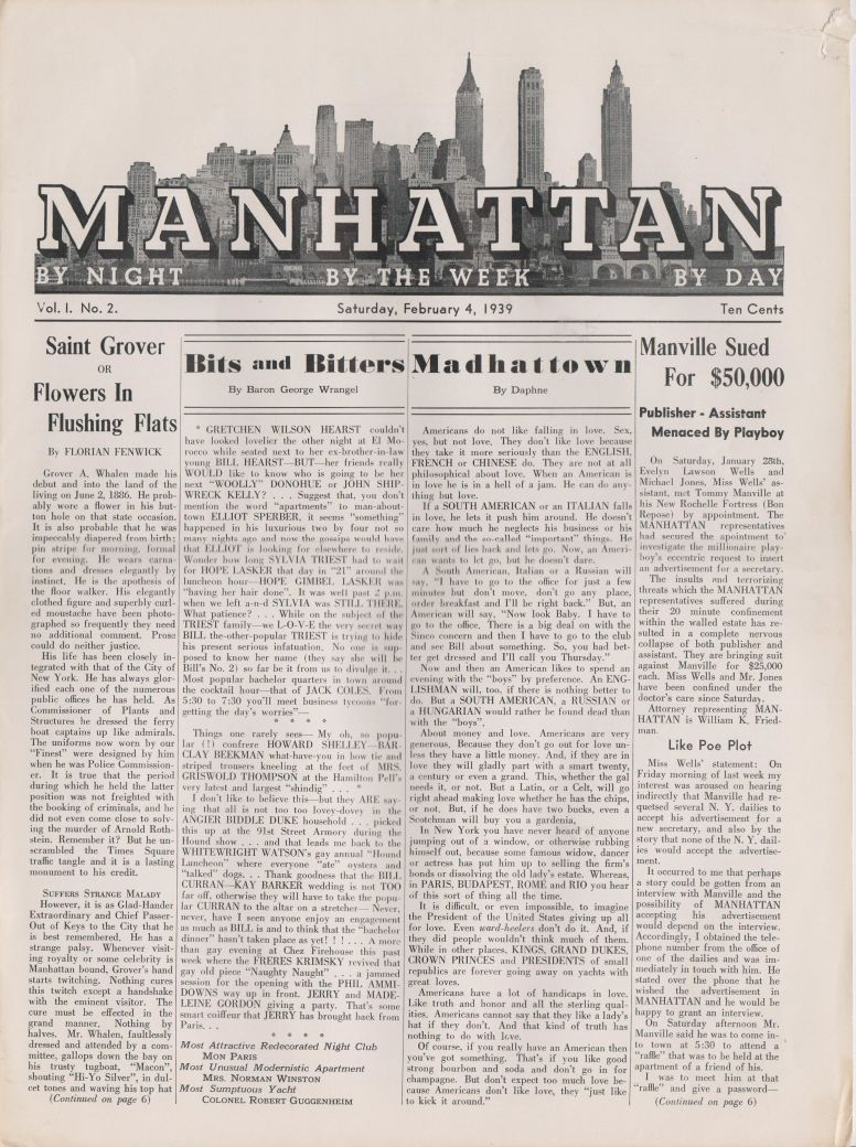 Manhattan vol 1 no 2 February 4 1939