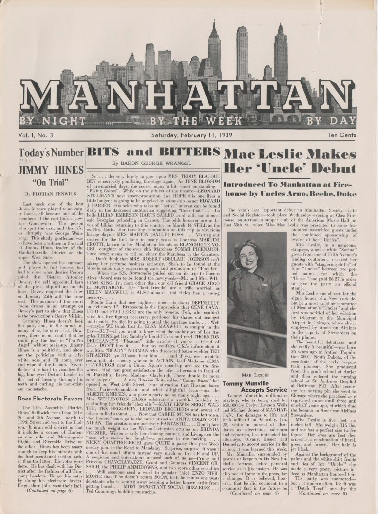 Manhattan vol 1 no 3 February 11 1939