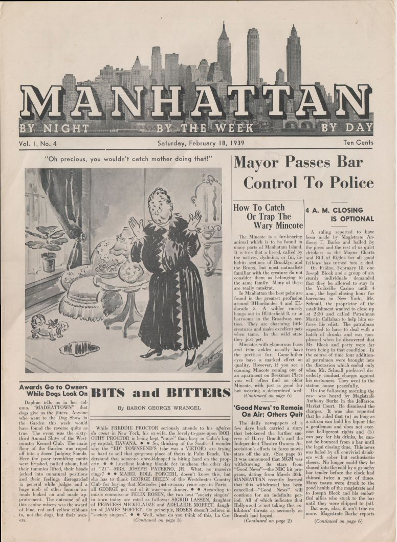 Manhattan vol 1 no 4 February 18 1939