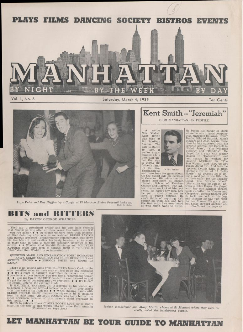 Manhattan vol 1 no 6 March 4 1939