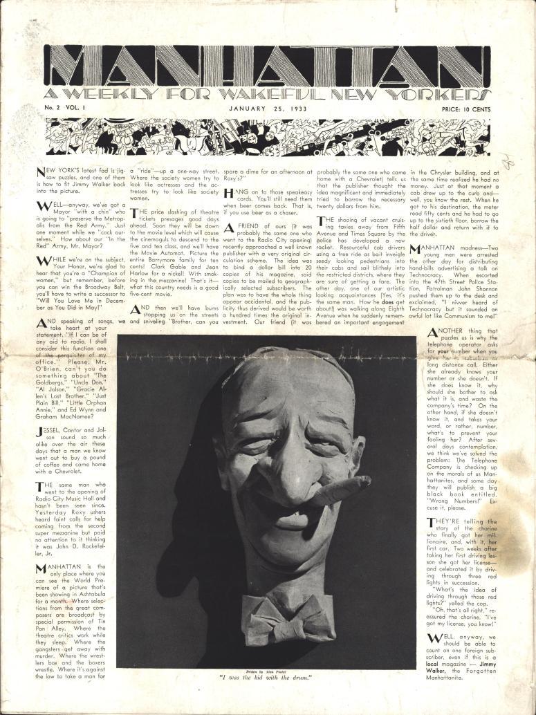 Manhattan vol 2 no 1 January 25 1933