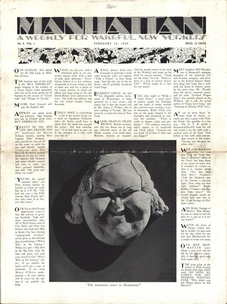 Manhattan vol 5 no. 1 February 15 1933