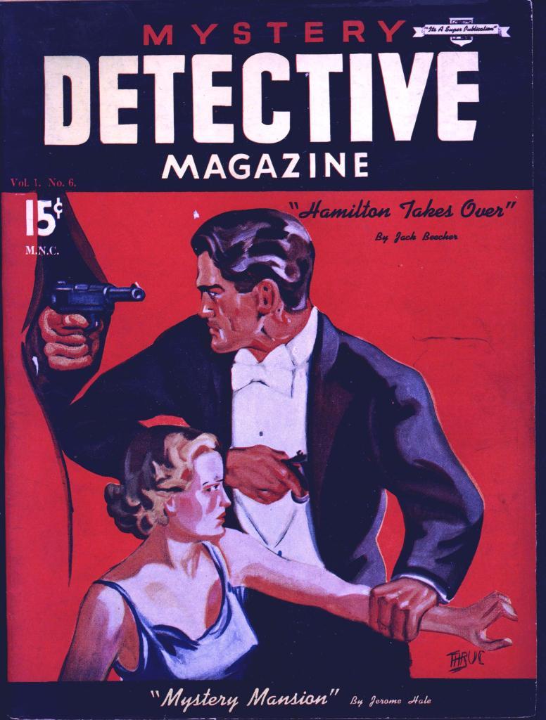 Mystery Detective Magazine vol 1 no 6 Super no date