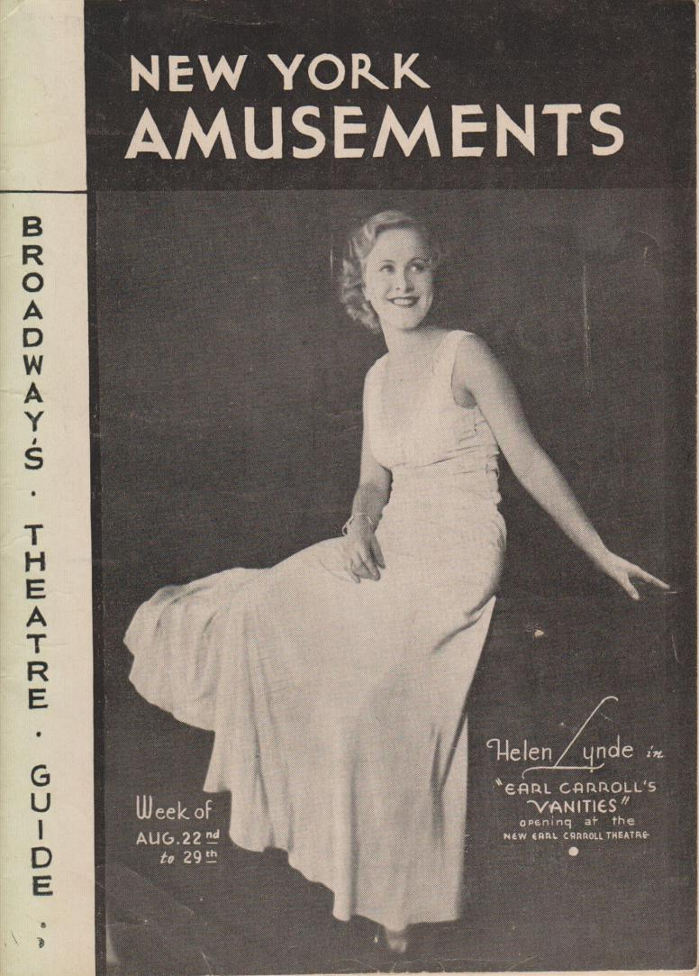 New York Amusements vol 10 no 35 22 August 1931 Lee Mortimer ed fc