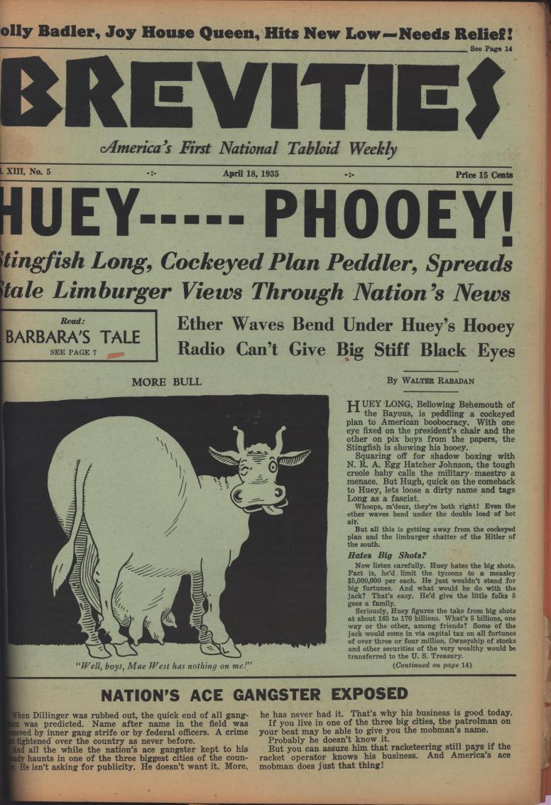 Brevities 1935 04 18 from album