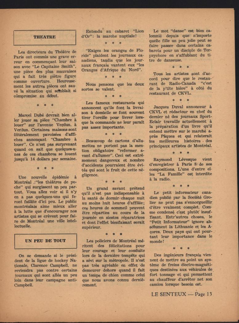 Le Senteux no date pp 13