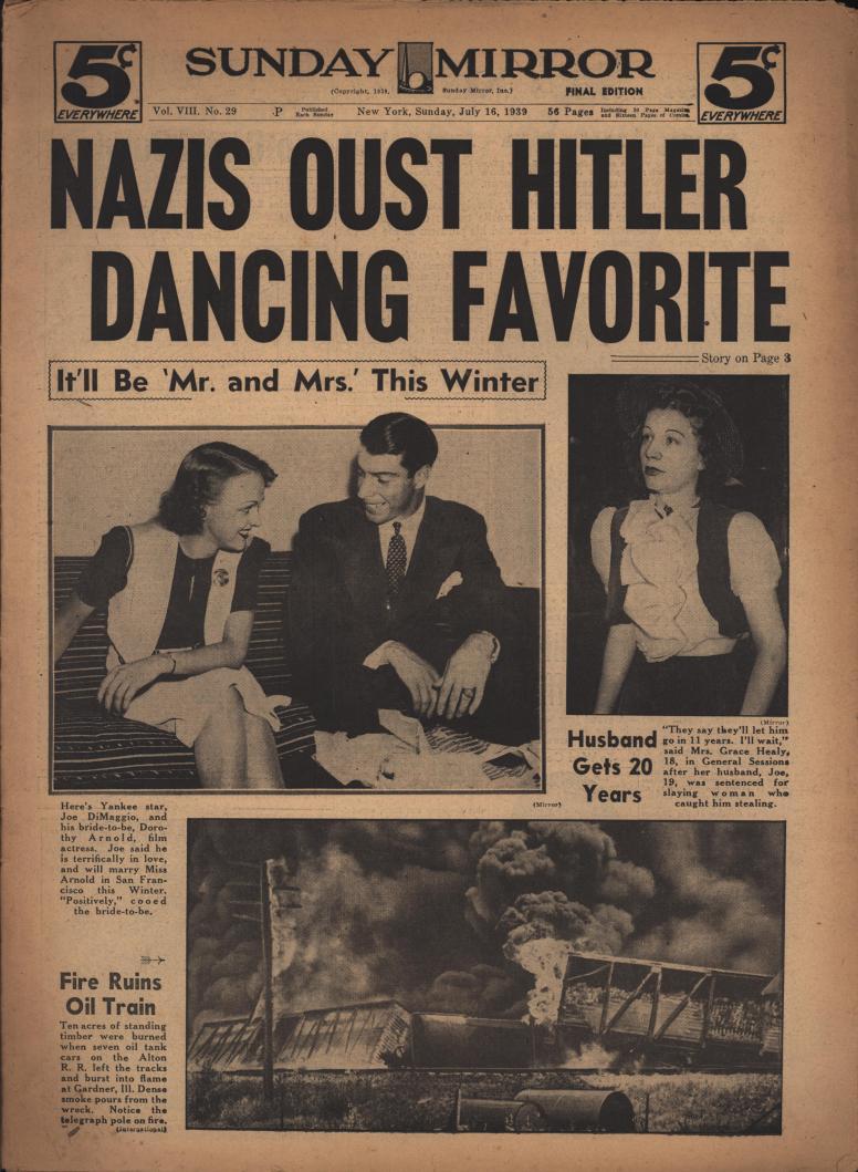 united states sunday mirror new york 1930s 1940s