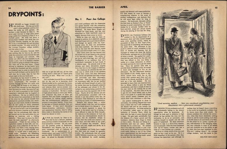 The Barker vol 1 no 1 pp 14-15