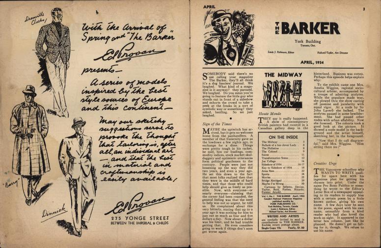 The Barker vol 1 no 1 pp 2-3