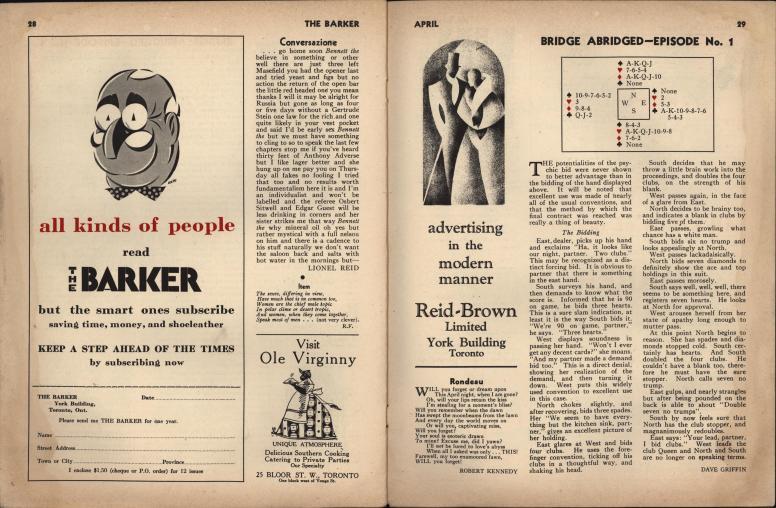 The Barker vol 1 no 1 pp 28-29