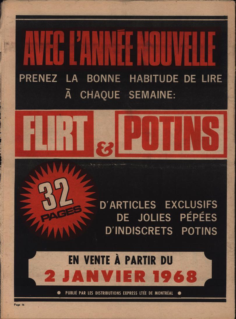Détective 1967 12 30 bc ad Flirt & Potins