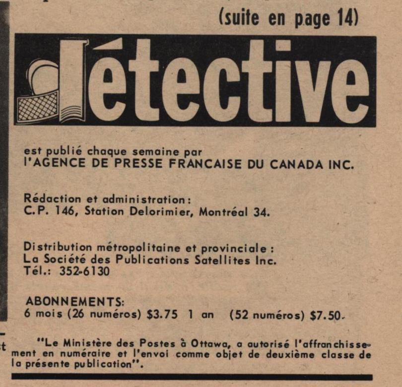 Détective 1967 12 30 DETAIL colophon