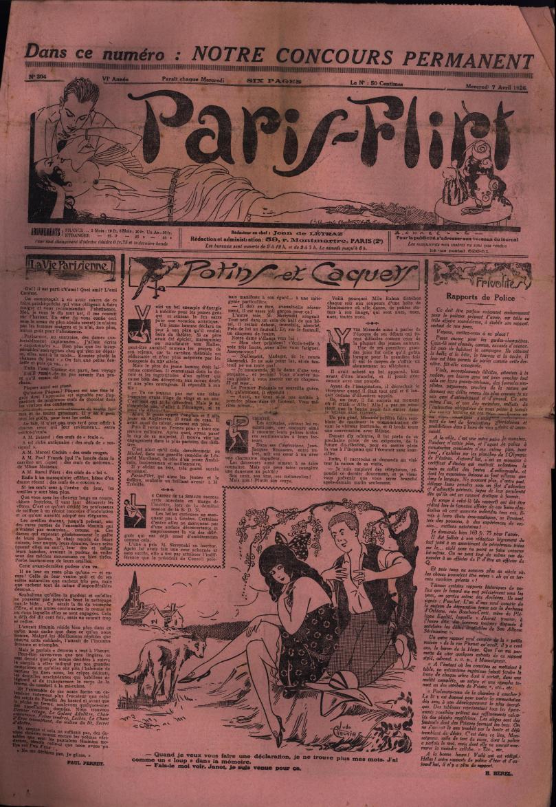 Paris-Flirt 1926 04 07